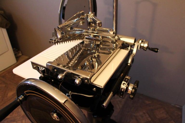 Antique Berkel Black Flywheel Meat Slicer