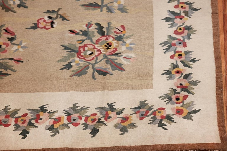 Bessarabian Antique Besserabian Kilim. Size: 7 ft 7 in x 10 ft 8 in (2.31 m x 3.25 m) For Sale