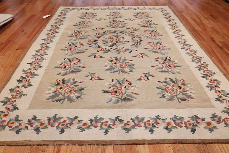 Wool Antique Besserabian Kilim. Size: 7 ft 7 in x 10 ft 8 in (2.31 m x 3.25 m) For Sale