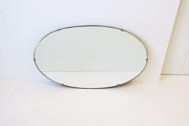 Antique Modern Beveled Wall or Vanity Mirror For Sale 5