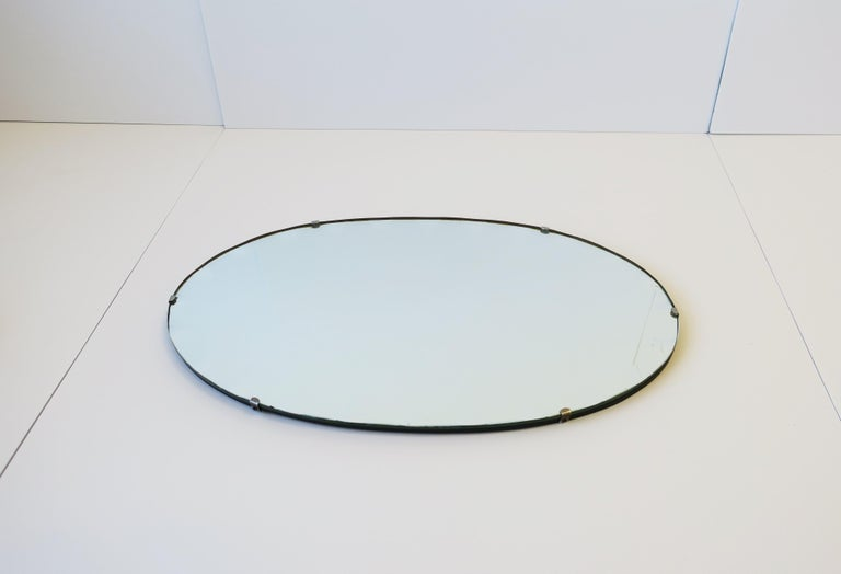 Antique Modern Beveled Wall or Vanity Mirror For Sale 6