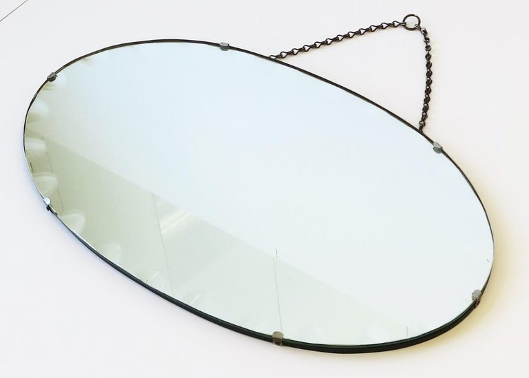 Antique Modern Beveled Wall or Vanity Mirror In Good Condition For Sale In New York, NY