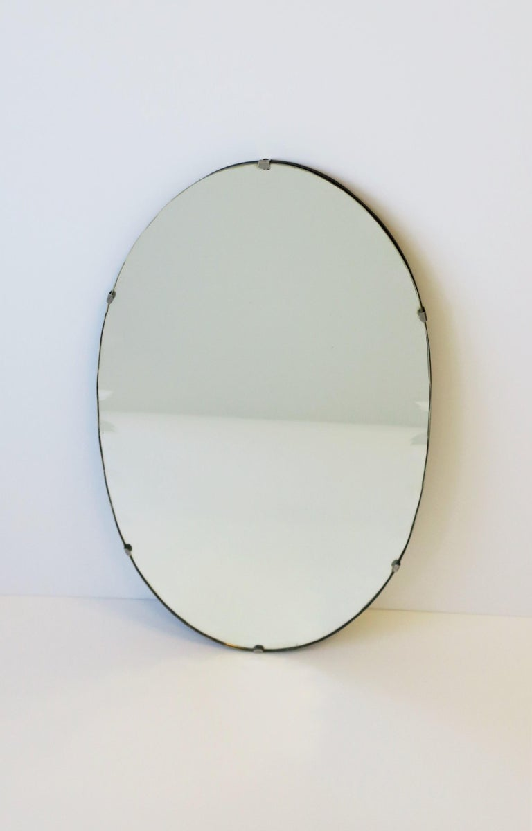 Antique Modern Beveled Wall or Vanity Mirror For Sale 1