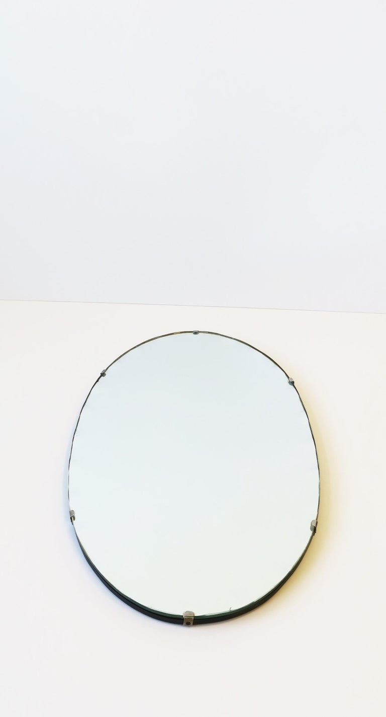 Antique Modern Beveled Wall or Vanity Mirror For Sale 3