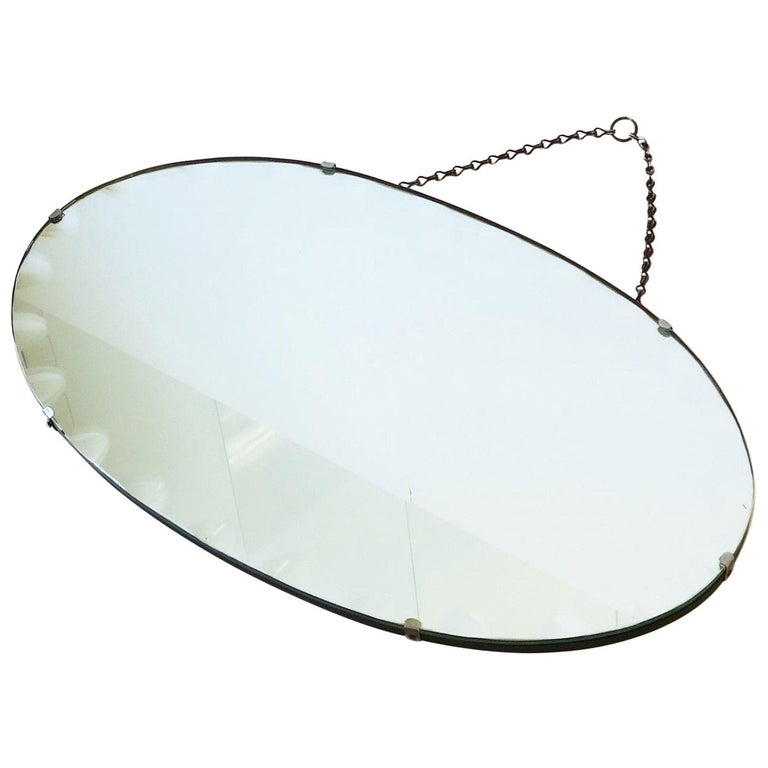 Antique Modern Beveled Wall or Vanity Mirror For Sale