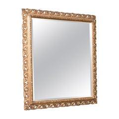 Antique Bevelled Mirror, English, Gilt Gesso, Overmantel, Hall, Victorian, 1900