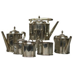 Antique Bh Hand Wrought Sterling Six-Piece Coffee and Tea Set, 159 Toz