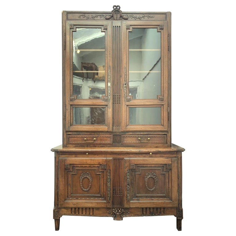 Antique Bibliotheque by F. C. Menant, Louis XVI Style 18th Century, French For Sale