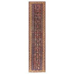 "Antique Bidjar Persian Runner Rug. Size: 3' 2"" x 12' 9"" (0.97 m x 3.89 m)"