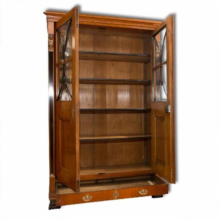 Austrian Antique Biedermeier Bookcase, 1830s
