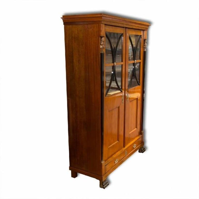 Antique Biedermeier Bookcase, 1830s 1