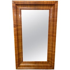 Antique Biedermeier Cherrywood Mirror