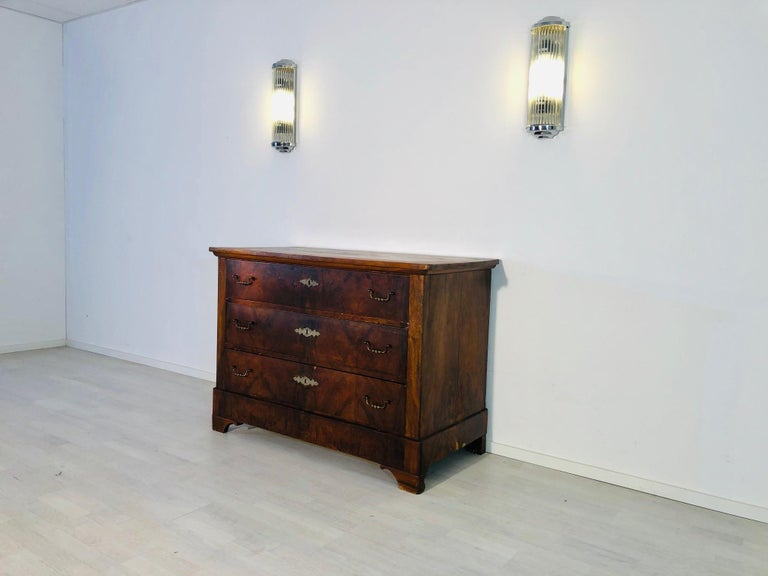 German Antique Biedermeier Chest of Drawers from the 1850s For Sale