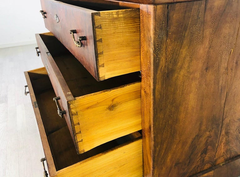 Antique Biedermeier Chest of Drawers from the 1850s In Good Condition For Sale In Senden, NRW