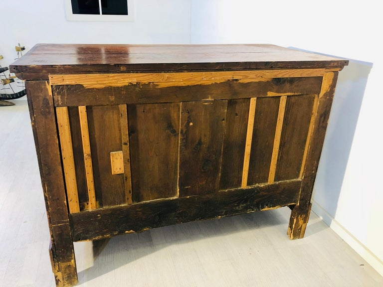 Mid-19th Century Antique Biedermeier Chest of Drawers from the 1850s For Sale