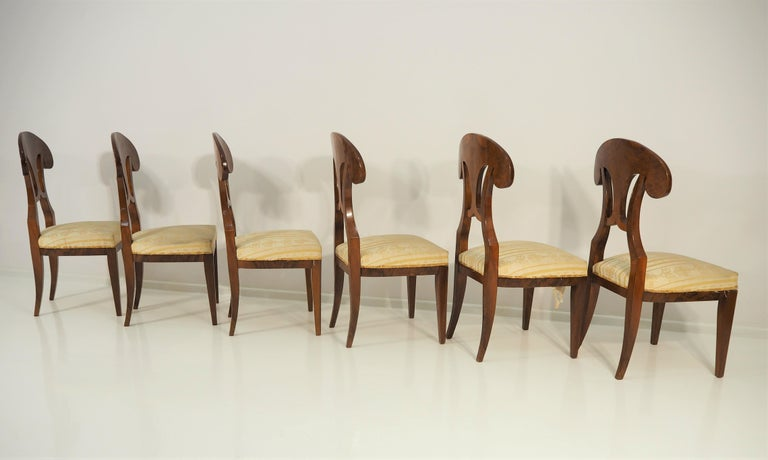 Antique Biedermeier Dining Chairs by Josef Danhauser, Set of 6 For Sale 4