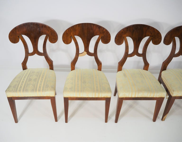 Antique Biedermeier Dining Chairs by Josef Danhauser, Set of 6 For Sale 5