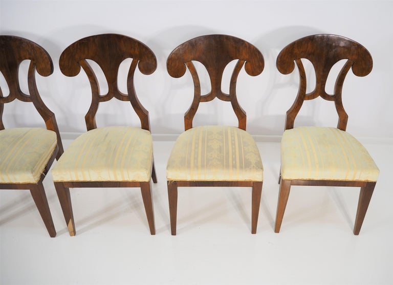 Antique Biedermeier Dining Chairs by Josef Danhauser, Set of 6 For Sale 6