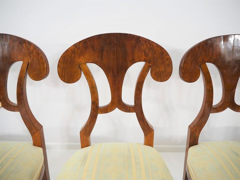 Austrian Antique Biedermeier Dining Chairs by Josef Danhauser, Set of 6 For Sale