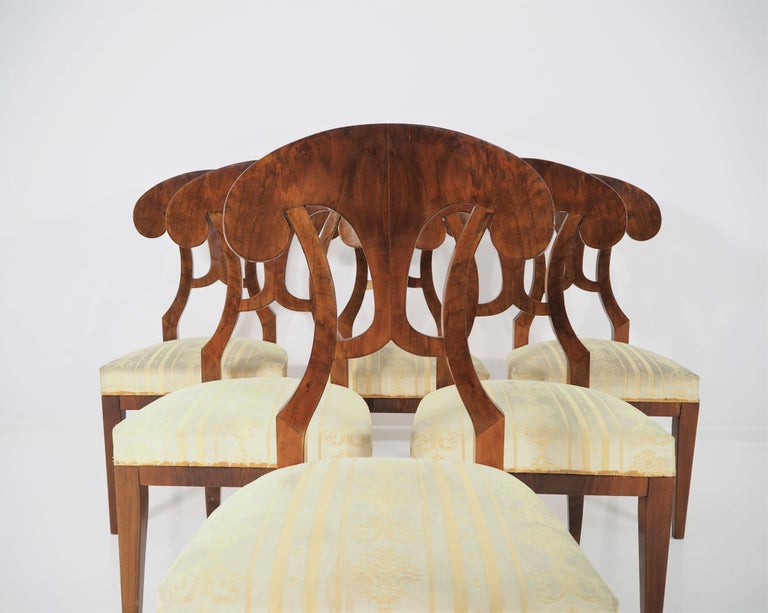 Antique Biedermeier Dining Chairs by Josef Danhauser, Set of 6 For Sale 1