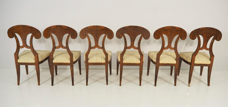 Antique Biedermeier Dining Chairs by Josef Danhauser, Set of 6 For Sale 2