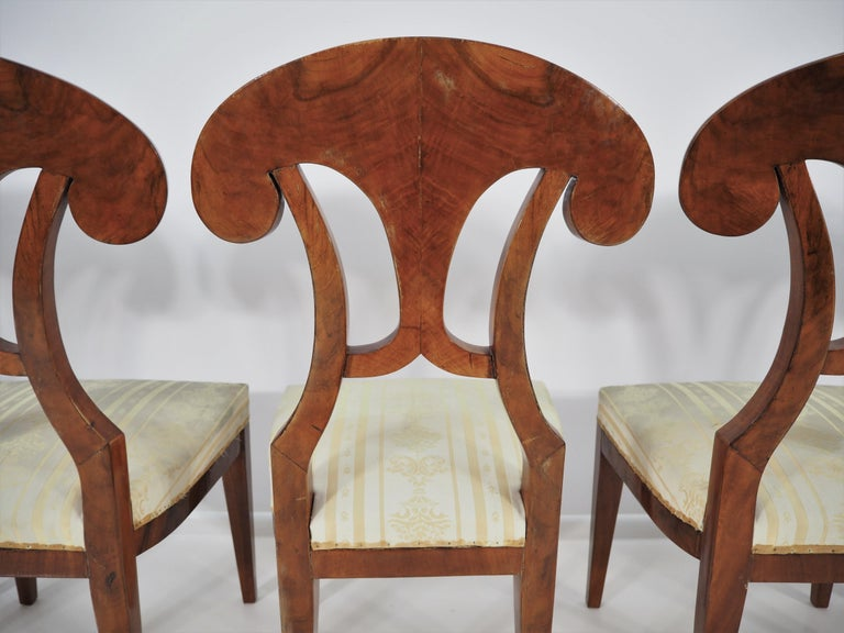 Antique Biedermeier Dining Chairs by Josef Danhauser, Set of 6 For Sale 3