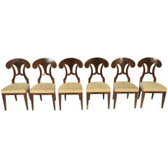 Antique Biedermeier Dining Chairs by Josef Danhauser, Set of 6