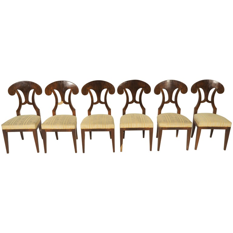 Antique Biedermeier Dining Chairs by Josef Danhauser, Set of 6 For Sale