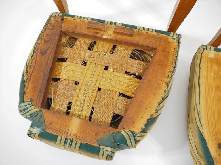 Antique Biedermeier Dining Chairs, Set of 2 For Sale 3