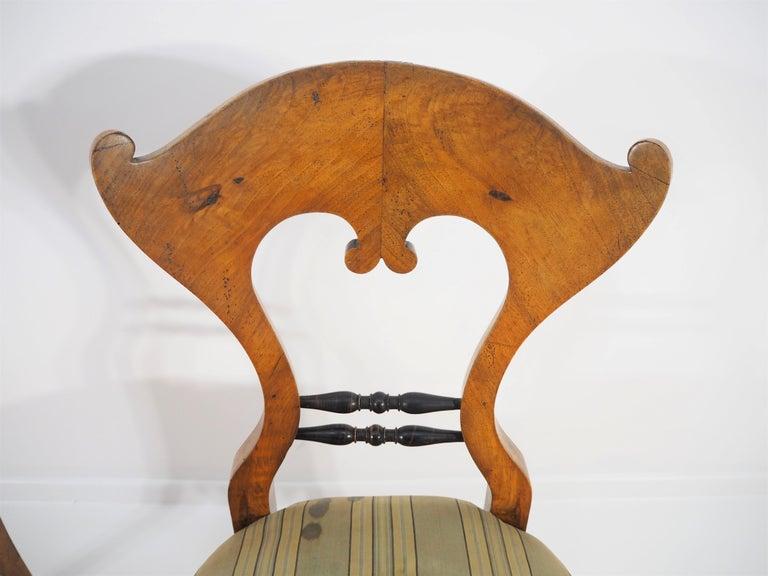 Austrian Antique Biedermeier Dining Chairs, Set of 2 For Sale