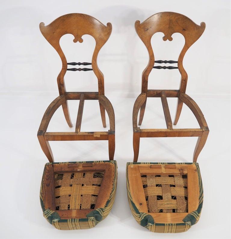Antique Biedermeier Dining Chairs, Set of 2 For Sale 1