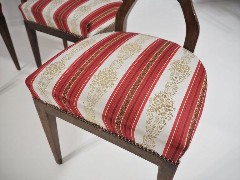 Antique Biedermeier Dining Chairs Set of 4 For Sale 5