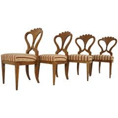 Antique Biedermeier Dining Chairs Set of 4