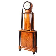 Antique Biedermeier Grandfather Clock, Longcase, Sweden, Birchwood, circa 1830