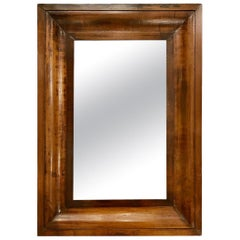 Antique Biedermeier Mahogany Mirror