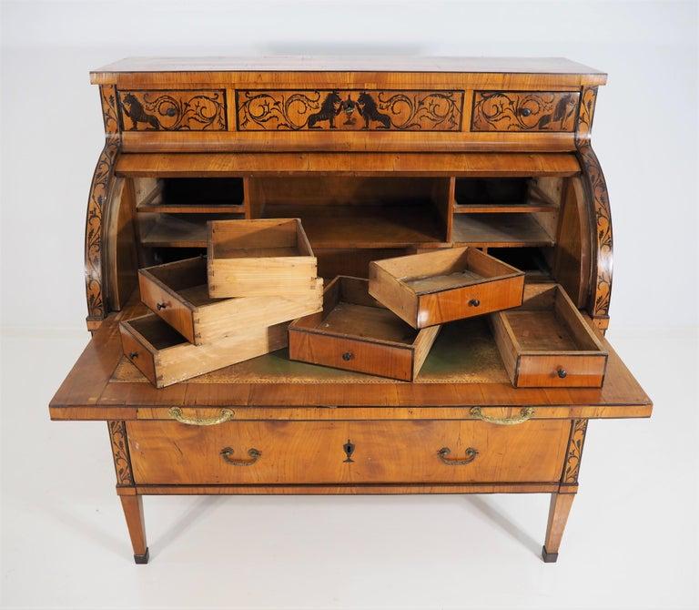 Austrian Antique Biedermeier Secretaire For Sale