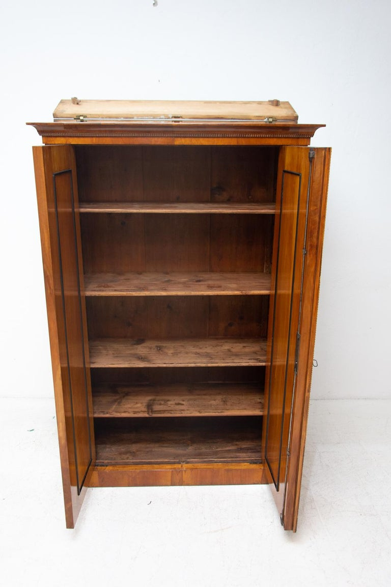 Antique Biedermeier Shelf Cabinet-Wardrobe, 1830s, Austria-Hungary For Sale 4