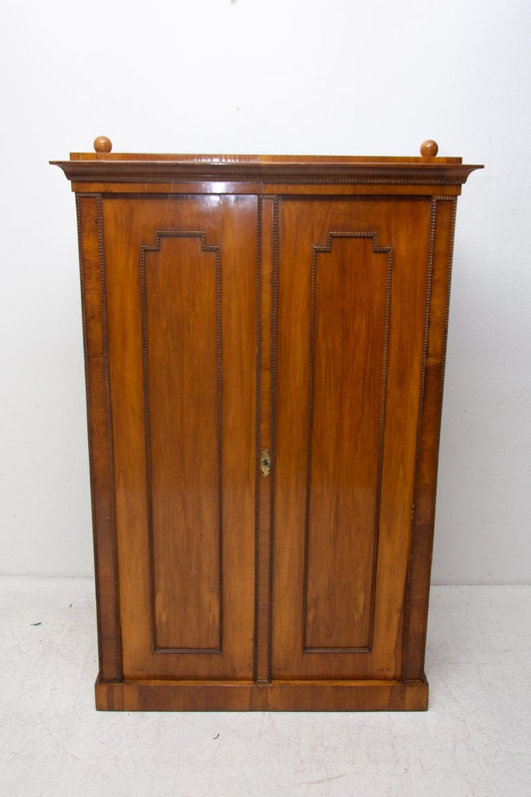 Austrian Antique Biedermeier Shelf Cabinet-Wardrobe, 1830s, Austria-Hungary For Sale