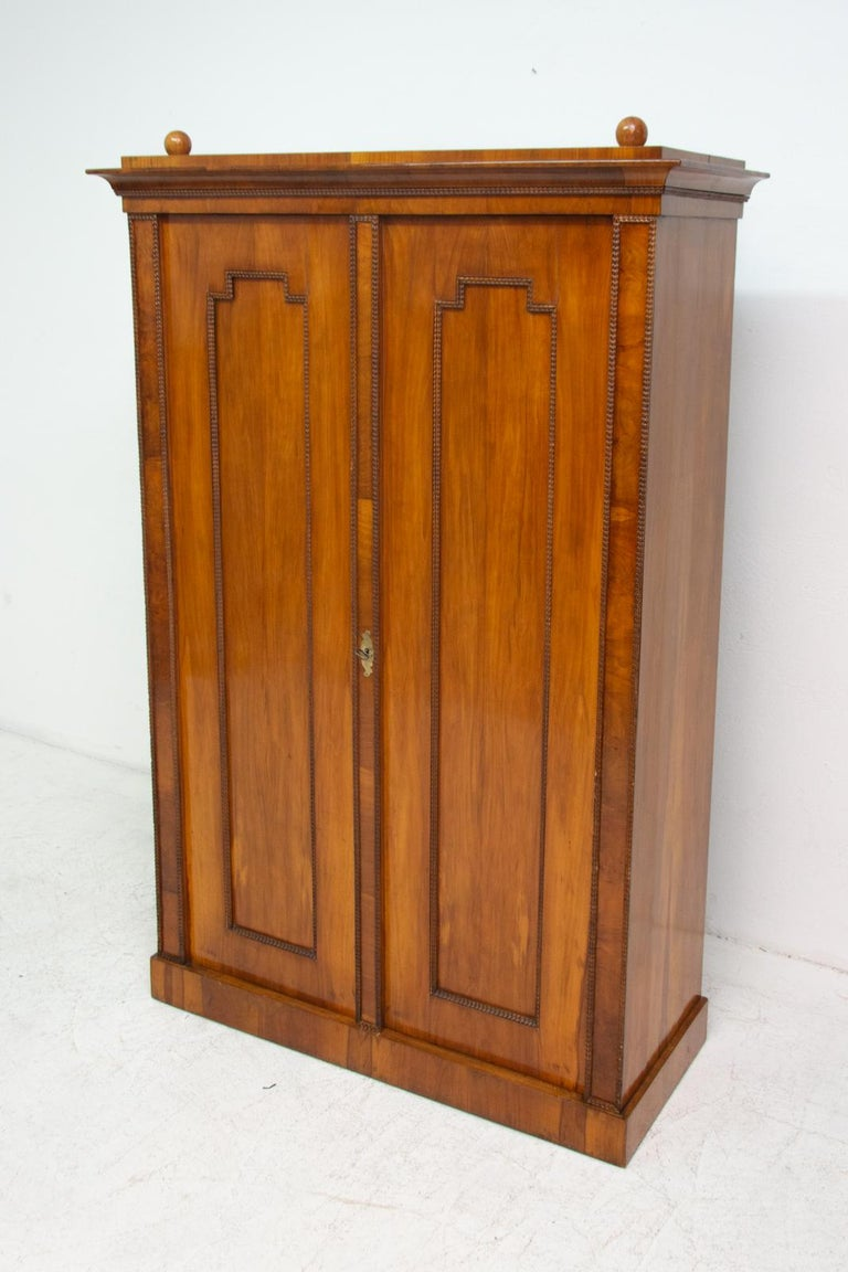 19th Century Antique Biedermeier Shelf Cabinet-Wardrobe, 1830s, Austria-Hungary For Sale