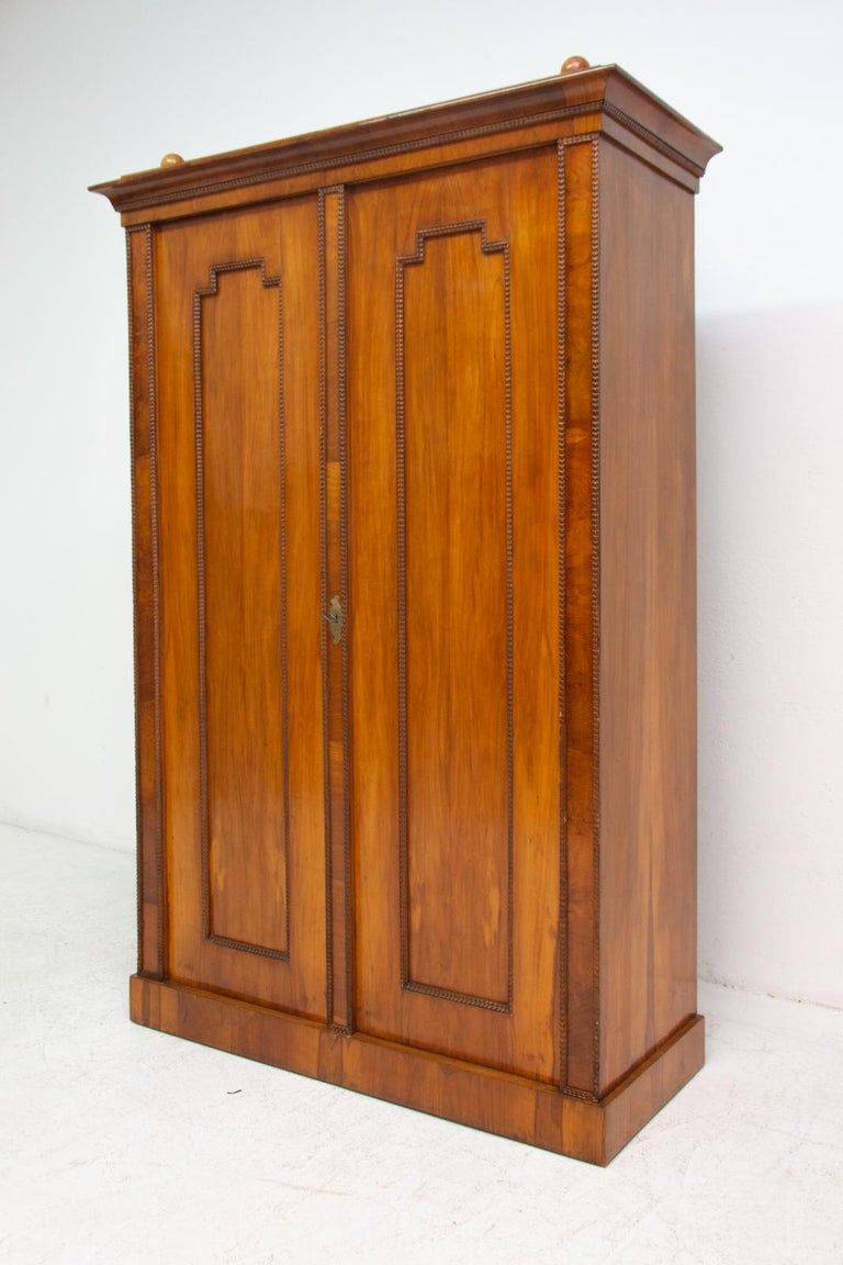 Wood Antique Biedermeier Shelf Cabinet-Wardrobe, 1830s, Austria-Hungary For Sale