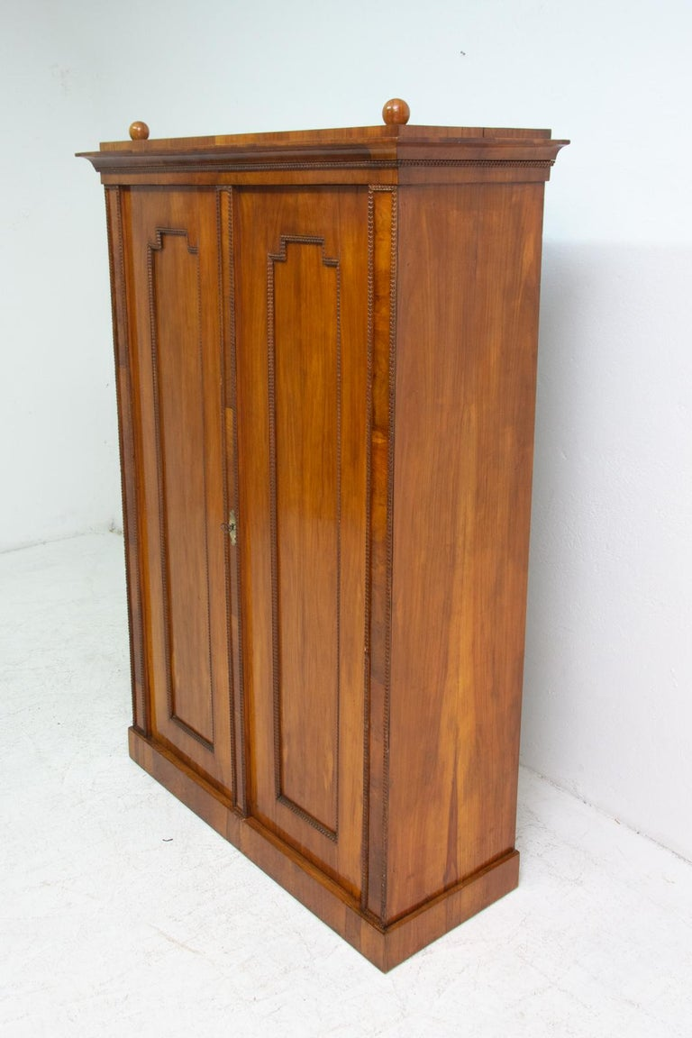 Antique Biedermeier Shelf Cabinet-Wardrobe, 1830s, Austria-Hungary For Sale 1