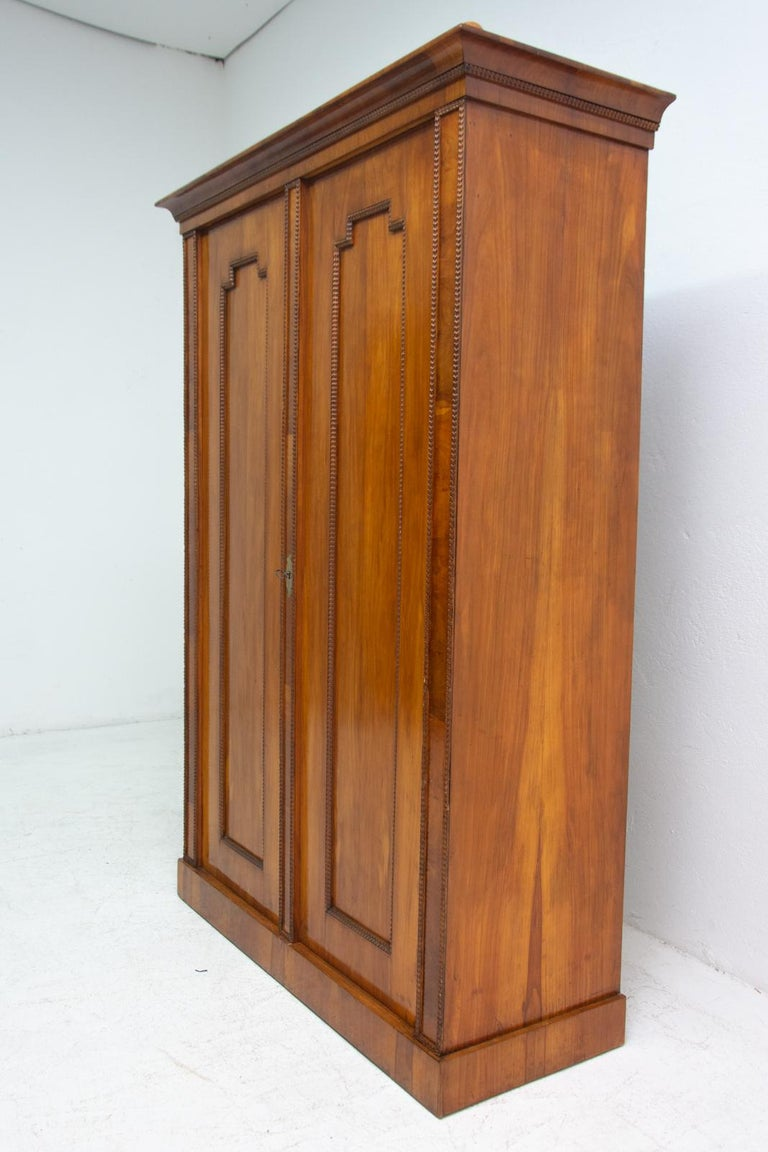 Antique Biedermeier Shelf Cabinet-Wardrobe, 1830s, Austria-Hungary For Sale 2