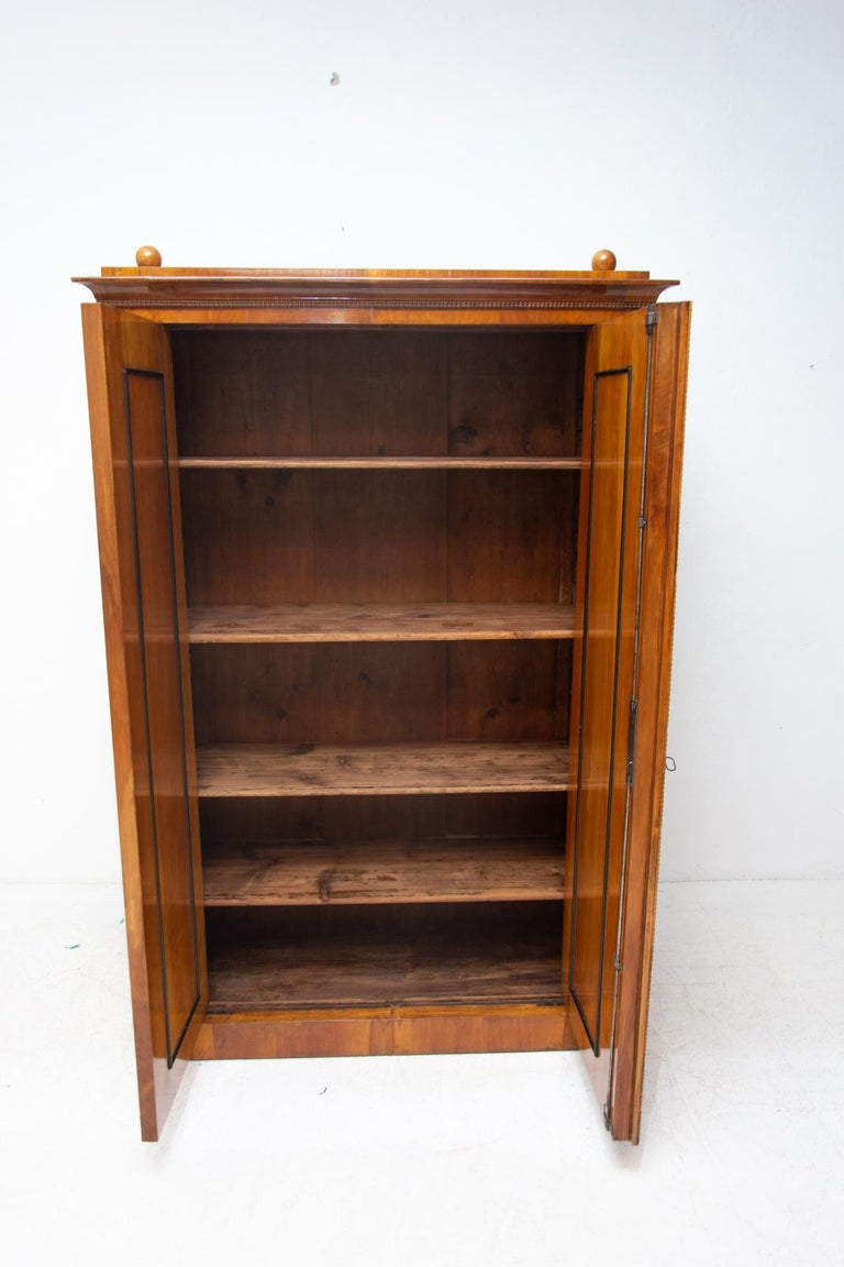 Antique Biedermeier Shelf Cabinet-Wardrobe, 1830s, Austria-Hungary For Sale 3