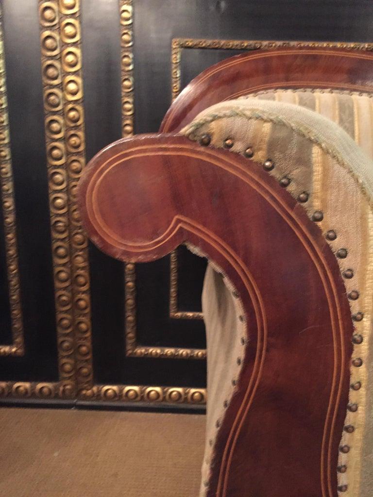 Antique Biedermeier Sofa Couch circa 1825 Mahogany For Sale 5