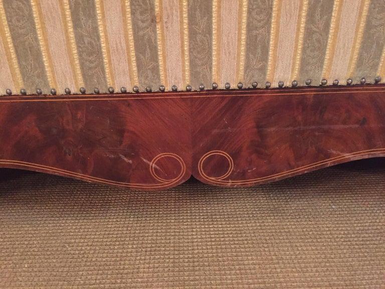 Antique Biedermeier Sofa Couch circa 1825 Mahogany For Sale 6
