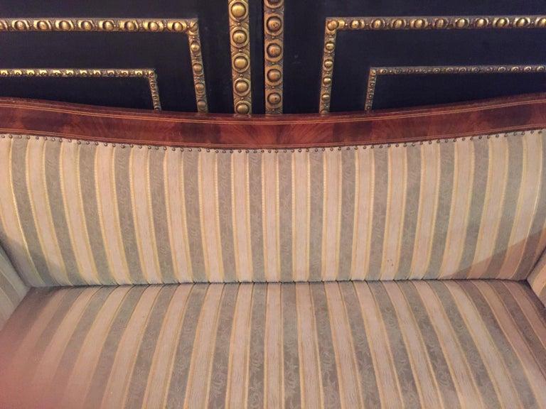 Antique Biedermeier Sofa Couch circa 1825 Mahogany For Sale 7