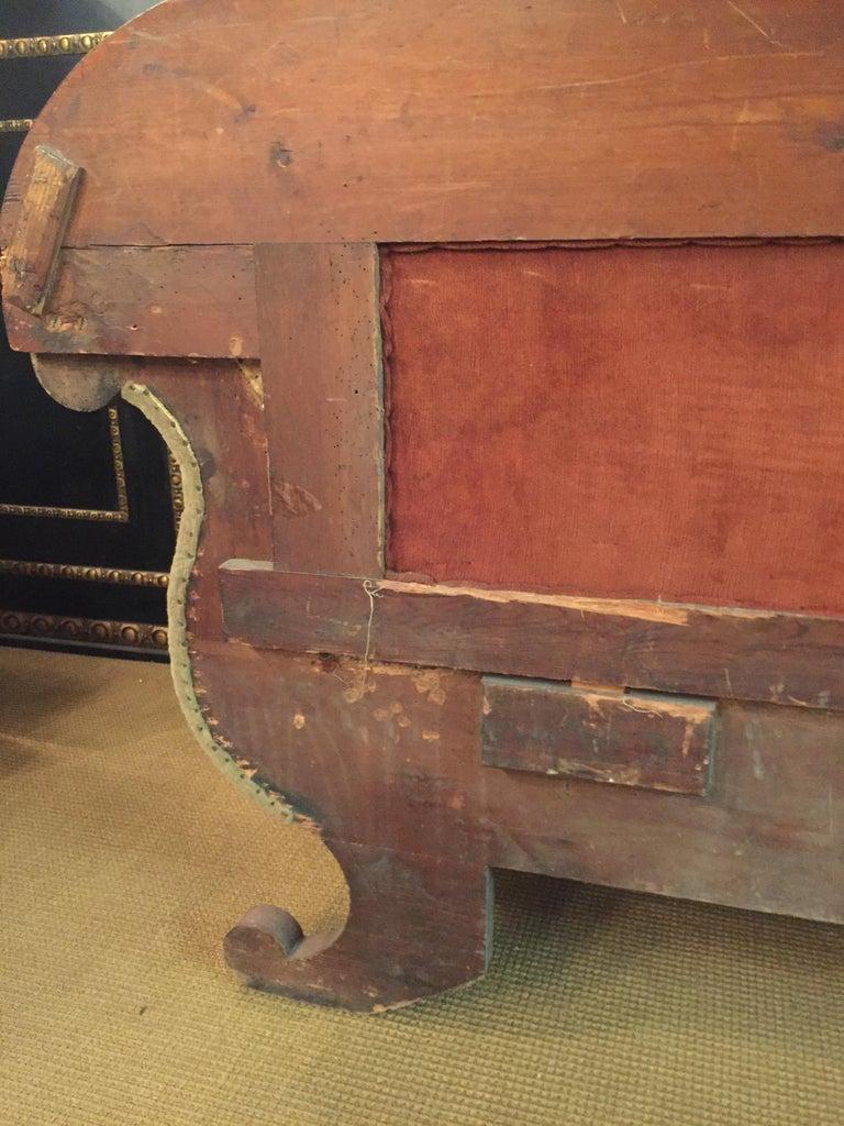 Antique Biedermeier Sofa Couch circa 1825 Mahogany For Sale 13