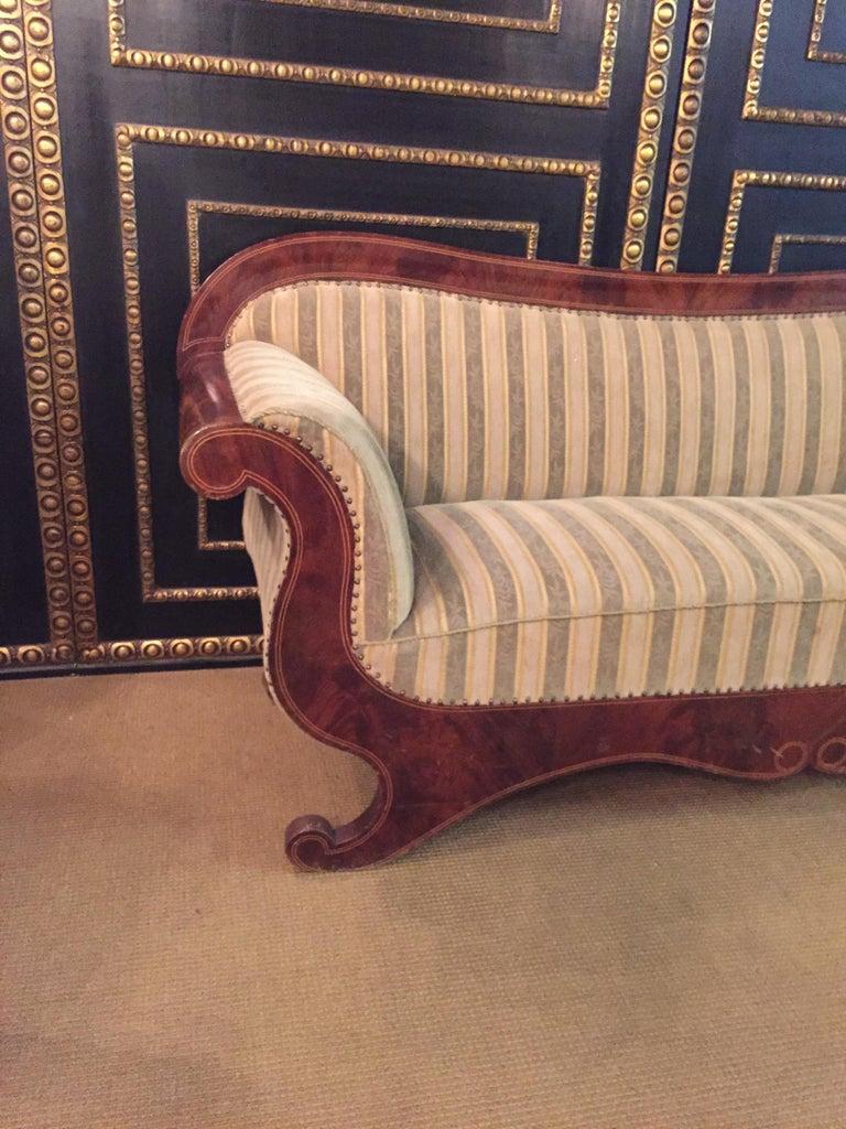 German Antique Biedermeier Sofa Couch circa 1825 Mahogany For Sale