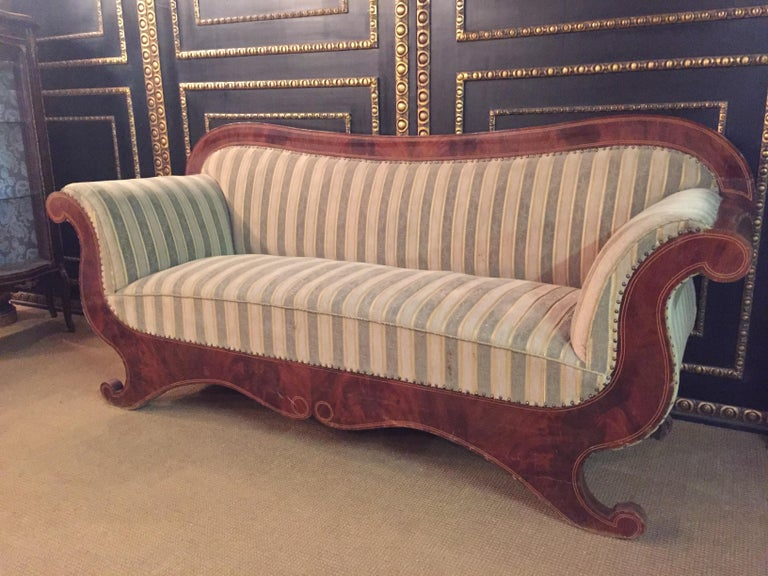 19th Century Antique Biedermeier Sofa Couch circa 1825 Mahogany For Sale