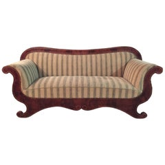 Antique Biedermeier Sofa Couch circa 1825 Mahogany